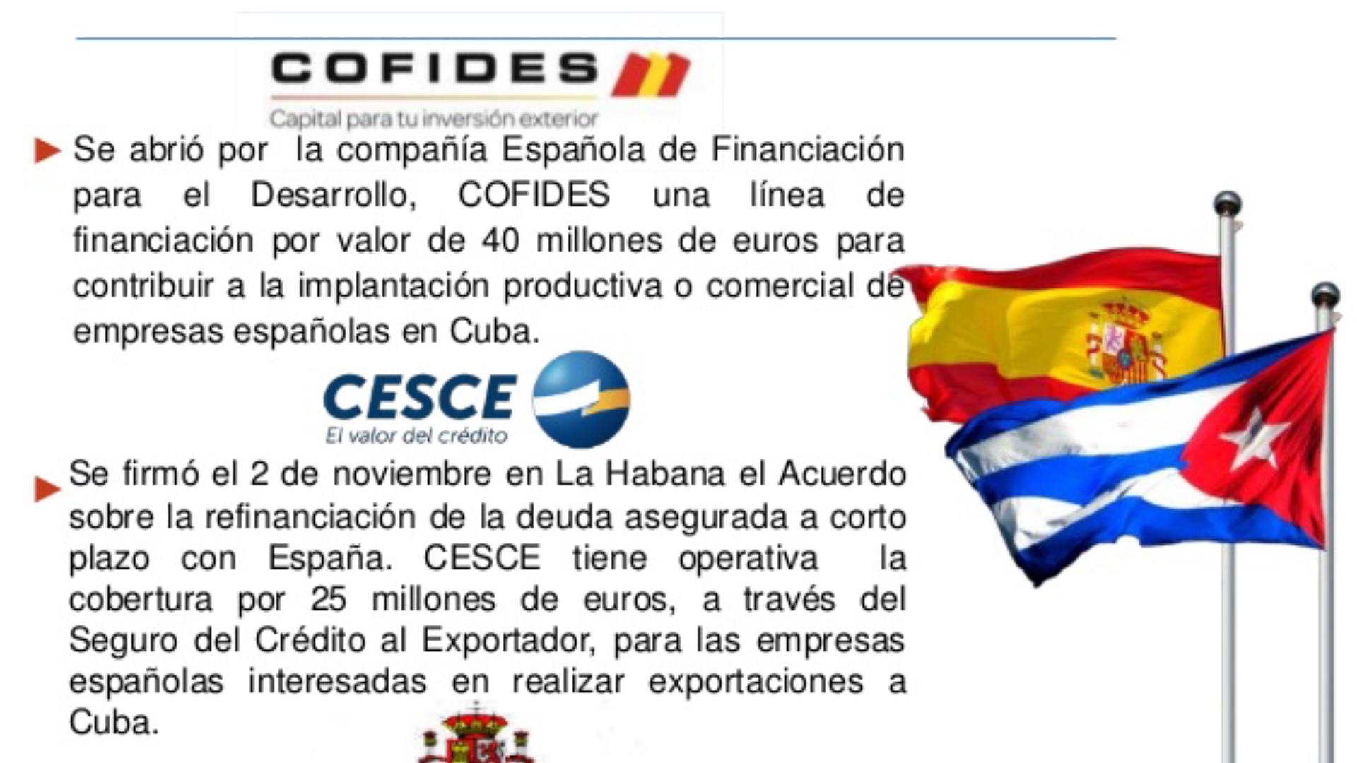 COFIDES, S.A apoya al sector privado cubano